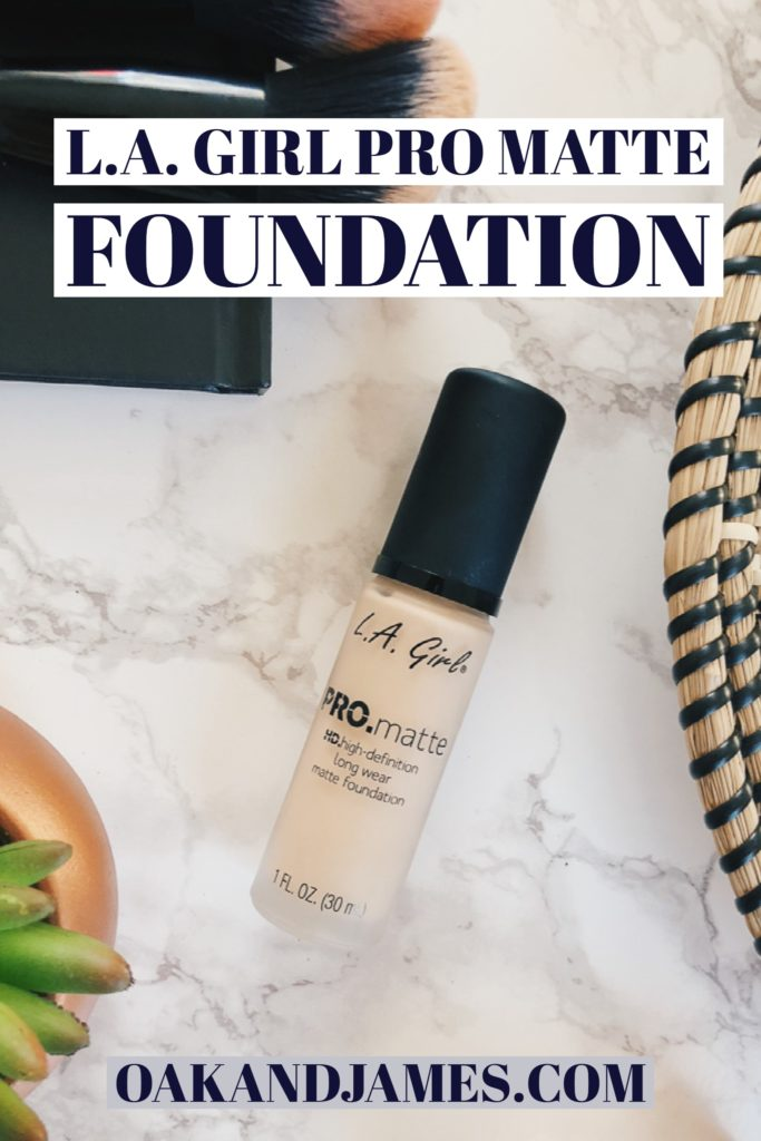 l.a. girl pro matte foundation product review