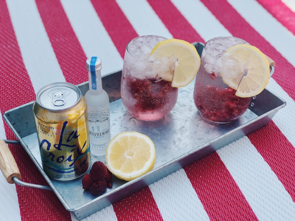 Raspberry lemon summer cocktail refreshing recipe