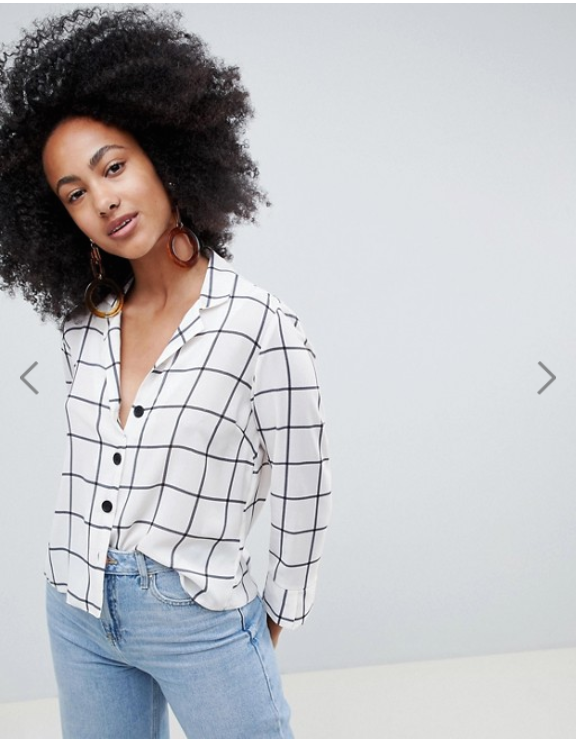 all fashion 2018 black and white button up top