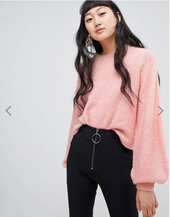 fall fashion 2018 pink sweater