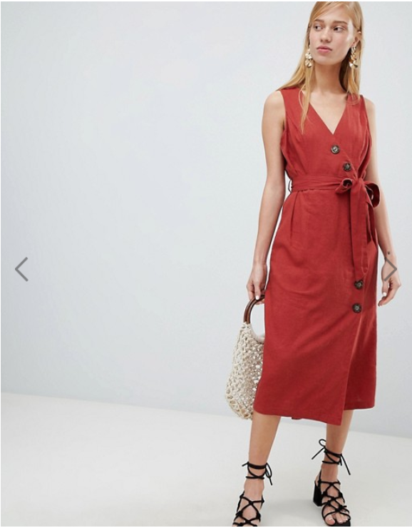 fall fashion 2018 trends red button midi dress