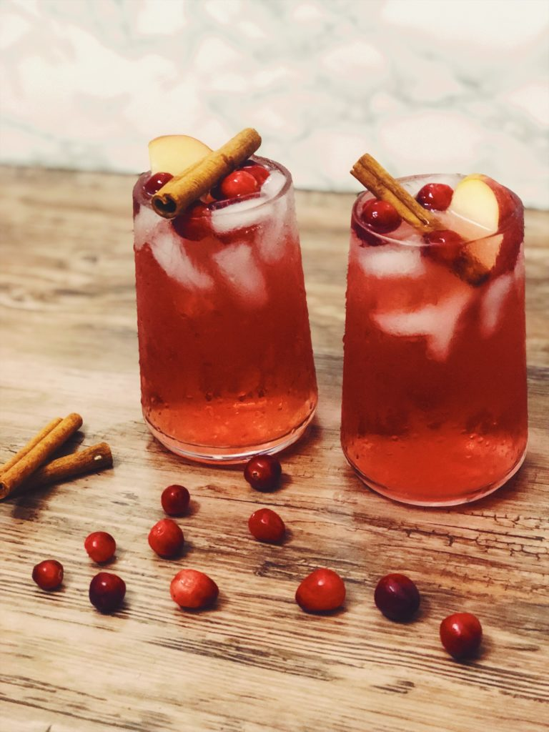 fall cocktail cranberry apple moscow mule