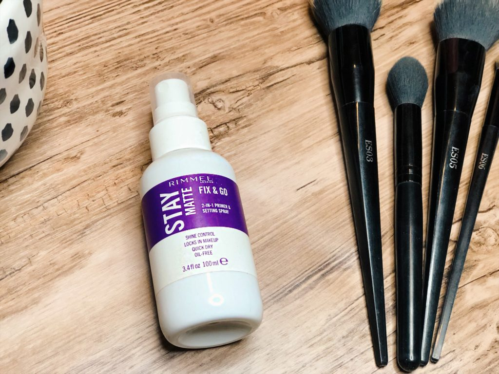 Rimmel stay matte fix & go setting spray review