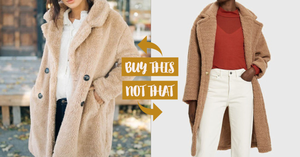 teddy coat winter fashion buy this not that dupe