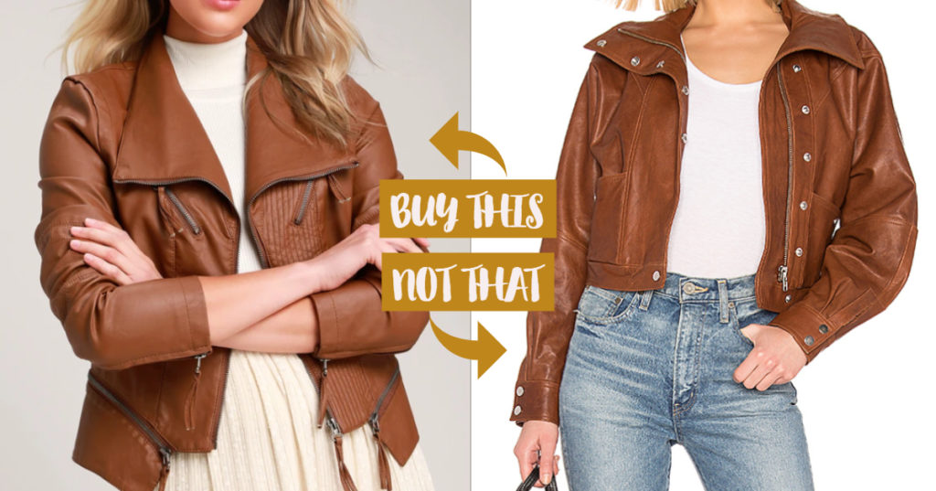 brown leather jacket winter fashion buy this not that dupe