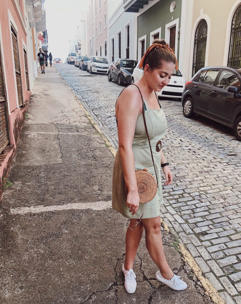 summer outfit of the day green mini dress ootd
